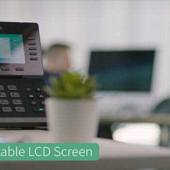قابلیت تغییر زاویه صفحه نمایش آی پی فون های سری T5 یالینک